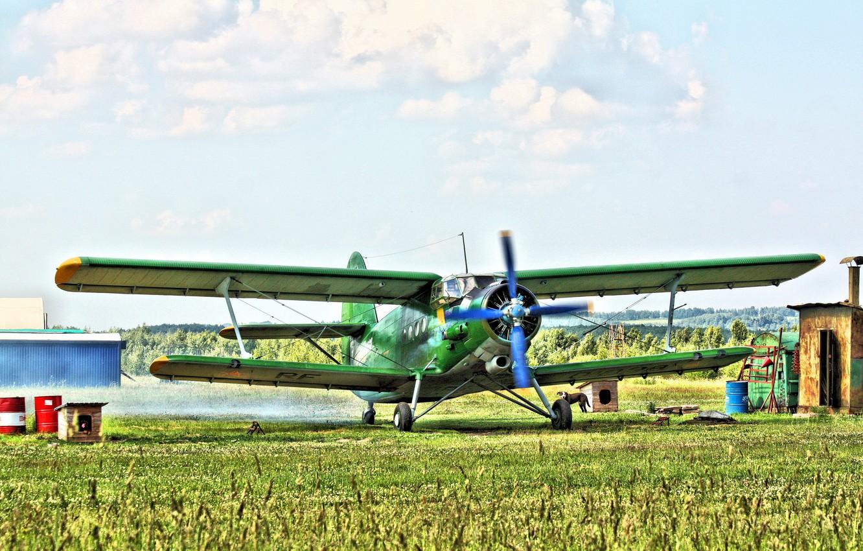 Фото обои Биплан, Anna, Airplane, Аэродром, Самолёт, Biplane, Ан-2, Кукурузник, Airfield, An-2, Аннушка, Споттинг, своё фото, Spotting, …