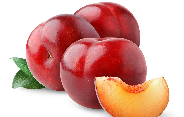 Фото обои фрукт, сливы, листики
