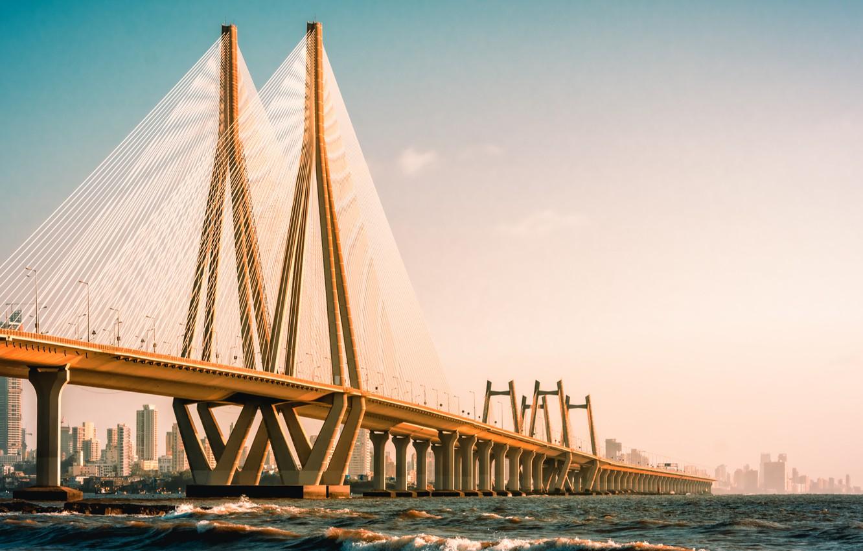 Фото обои metal, wonder, cement, suspension bridge
