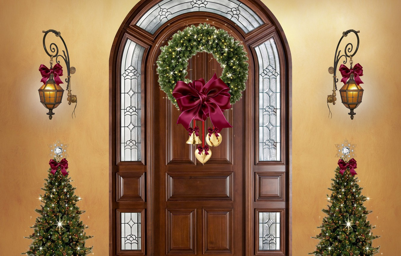 Фото обои Christmas, christmas trees, Decoration, christmas ornaments
