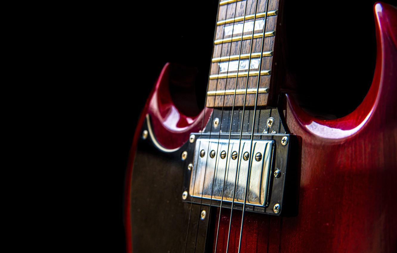 Обои Гитара, струны, гриф, музыкальный инструмент. Музыка foto 14