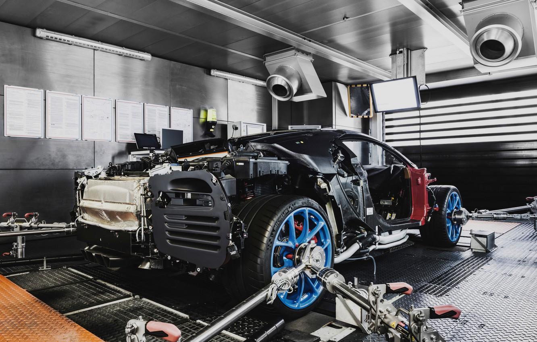 Фото обои Bugatti, сборка, наладка, Chiron