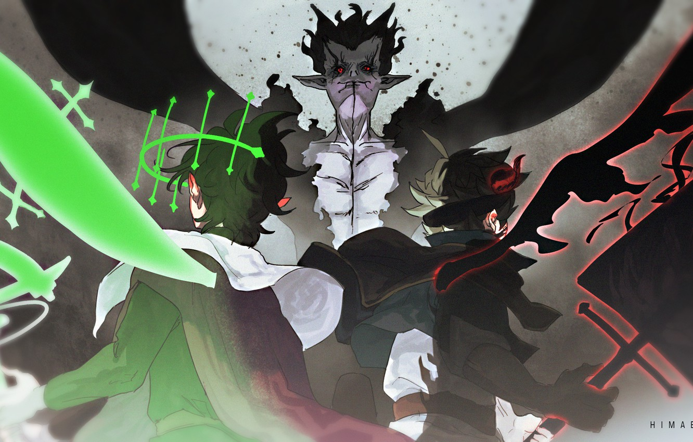 Фото обои демон, фэнтези, сражение, Black Clover, Asta, Yuno, Zagred