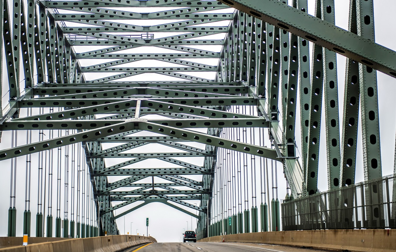 Фото обои bridge, Pennsylvania, steel, Edgely, Bristol Township