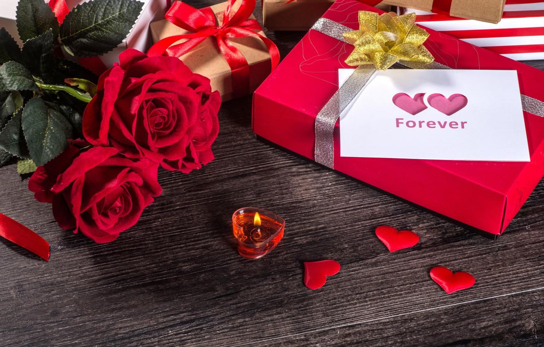 Фото обои любовь, цветы, подарок, сердце, розы, red, love, romantic, hearts, valentine's day, gift, roses