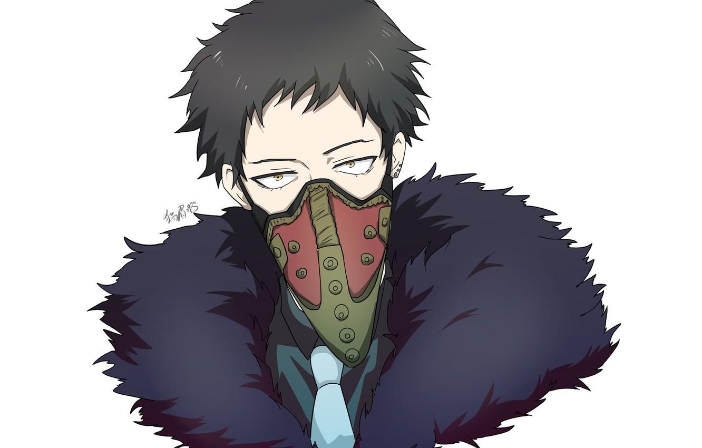 Фото обои маска, парень, бандит, Boku No Hero Academia, Моя Геройская Академия, Шисаки Кай