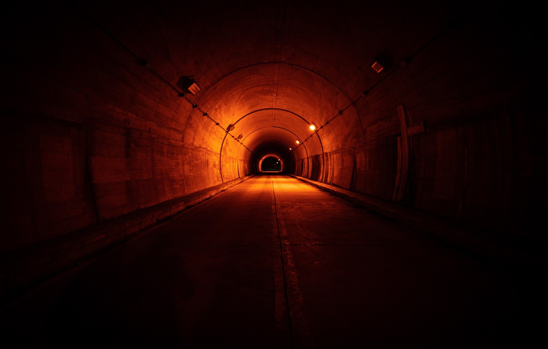 Фото обои огни, пространство, туннель