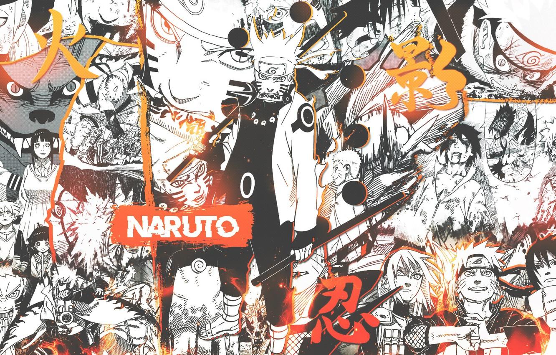 Фото обои коллаж, лис, Наруто, Naruto, Узумаки Наруто, Курама