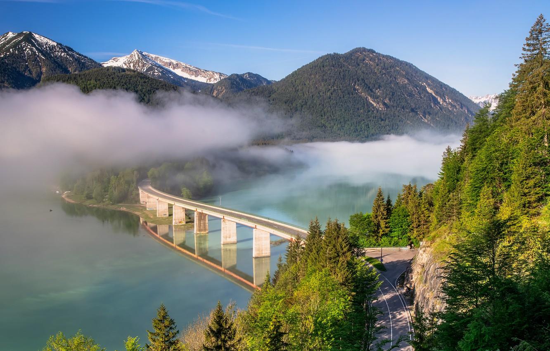Обои австрия, alps, тироль, austria, tirol, Lake plansee, озеро планзее. Пейзажи foto 17