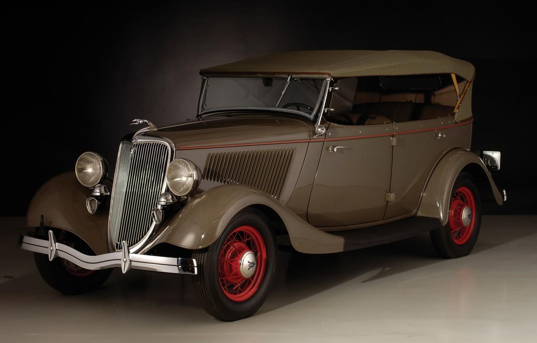 Фото обои авто, старина, ретро, Ford, Deluxe, 1934, Phaeton, V8