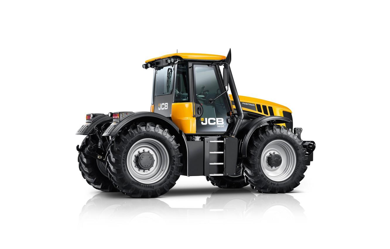Фото обои трактор, белый фон, JCB, Fastrac, 3230 Xtra