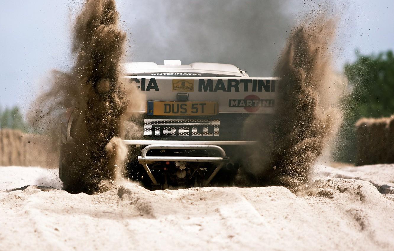 Фото обои rally car, group b, lancia, lancia stratos