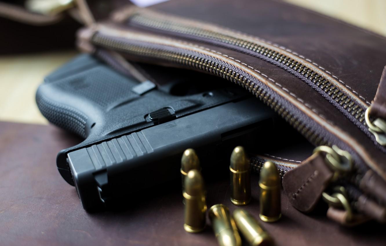Фото обои Glock, 9mm, ammunition, handbag