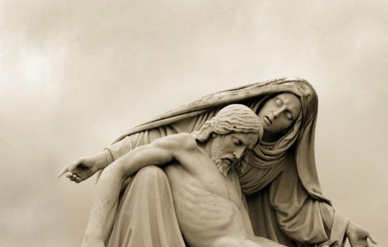 Фото обои sculpture, monument, religion