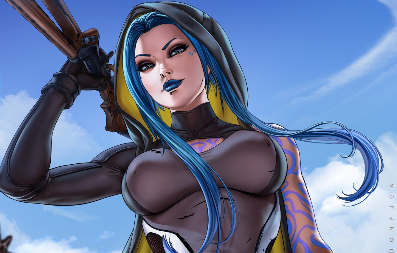 Фото обои взгляд, девушка, игра, арт, персонаж, Borderlands, Maya the Siren