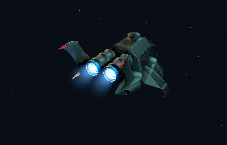 Фото обои космос, турбины, шатл, рендер, c4d