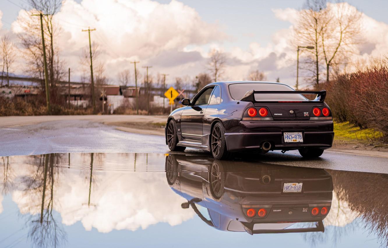 Фото обои Nissan, R33, Skylilne, GTR R33