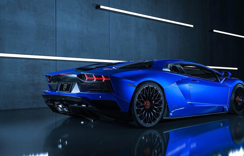 Фото обои Авто, Синий, Lamborghini, Машина, Суперкар, Aventador, Lamborghini Aventador, Supercar, Спорткар, Sportcar, Transport & Vehicles, Ryan …