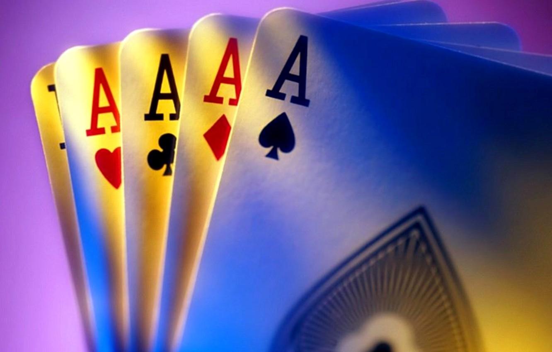 Фото обои карты, покер, 4 туза