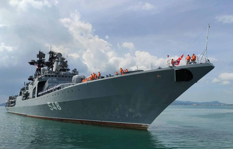 Фото обои корабль, большой, противолодочный, Адмирал Пантелеев