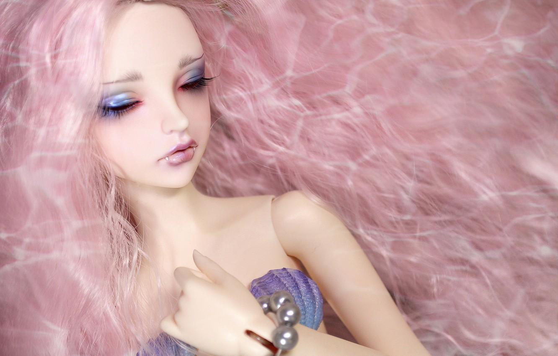 Обои цветы, Кукла, девушка, волосы. Разное foto 19