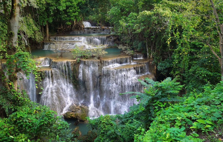 Обои каскады, тайланд, красиво. Природа foto 15