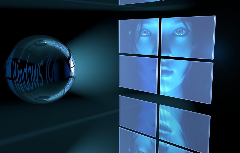 Фото обои Девушка, windows, Windows 10
