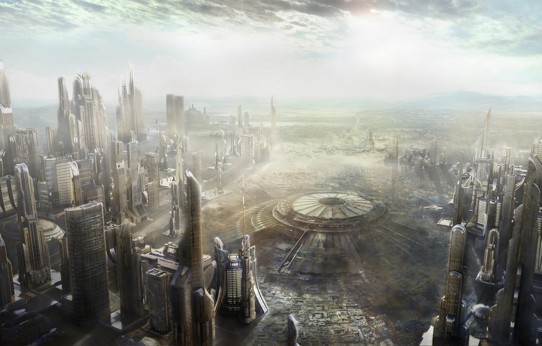 Фото обои city, future, Art