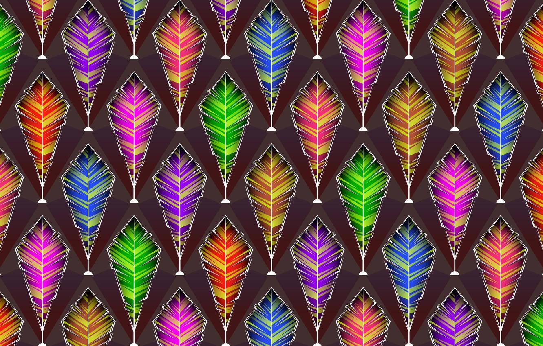 Фото обои фон, графика, текстура, перья, digital art
