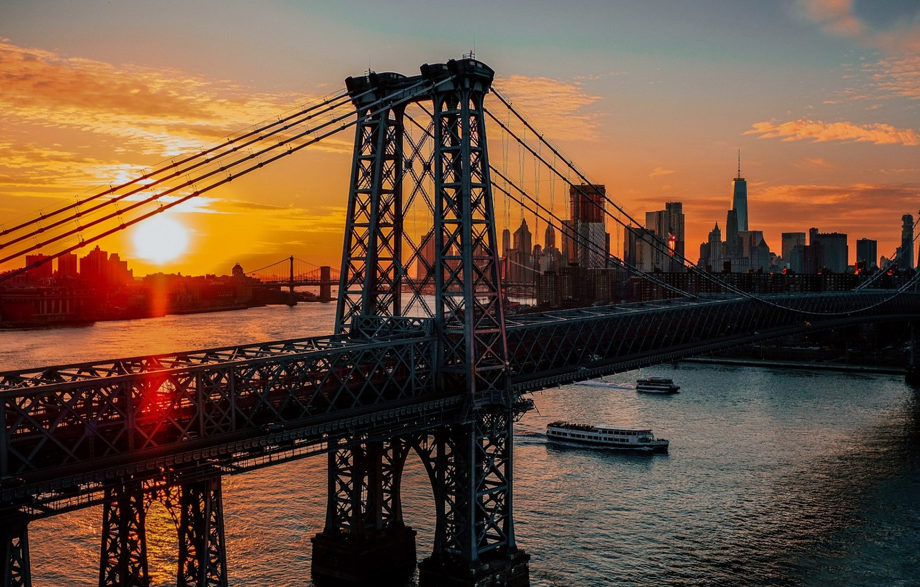 Обои river, сша, new york, manhattan, Nyc, new york city. Города foto 15