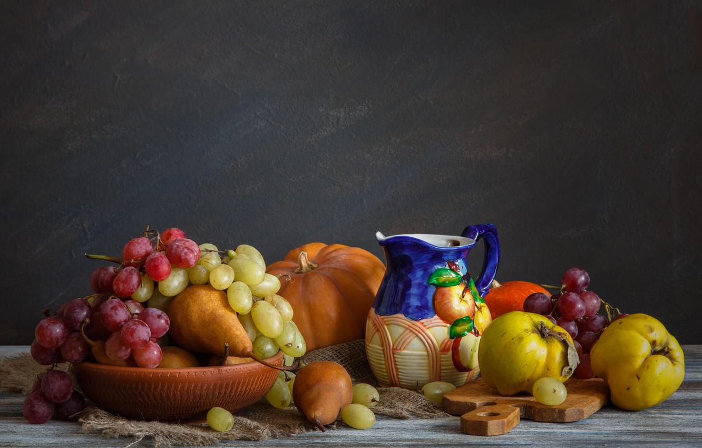 Фото обои стол, фрукты, натюрморт, овощи