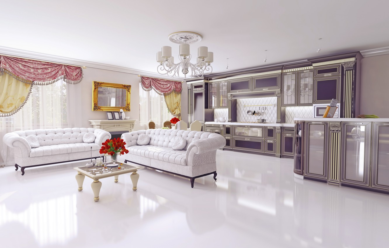 Фото обои дизайн, мебель, интерьер, люстра, столик, диваны, design, гостиная, living room, interior