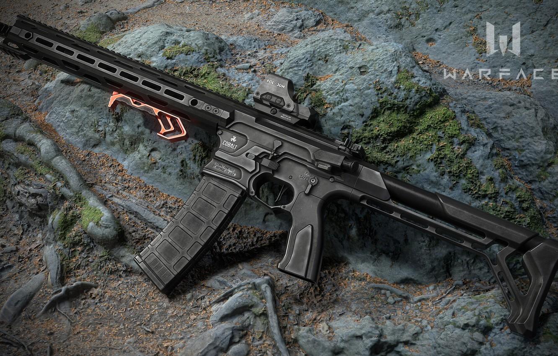 Фото обои рендеринг, оружие, винтовка, weapon, render, custom, рендер, 3d art, ar-15, assault rifle, assault Rifle, Cobalt …