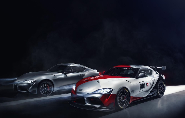 Фото обои свет, машины, купе, concept, спорткар, Toyota, GT4, GR Supra