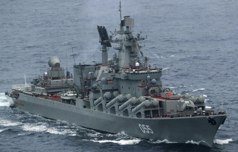 Фото обои крейсер, ракетный, проект 1164, маршал устинов