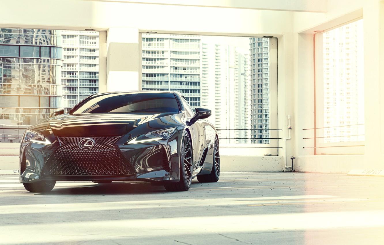 Фото обои Lexus, Vossen, Black edition, 2020, Lexus LC500