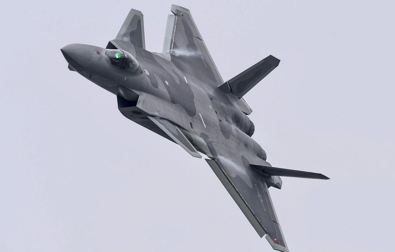 Фото обои Истребитель, Пилот, J-20, Chengdu J-20, Эффект Прандтля — Глоерта, Кокпит, ВВС КНР, ИЛС