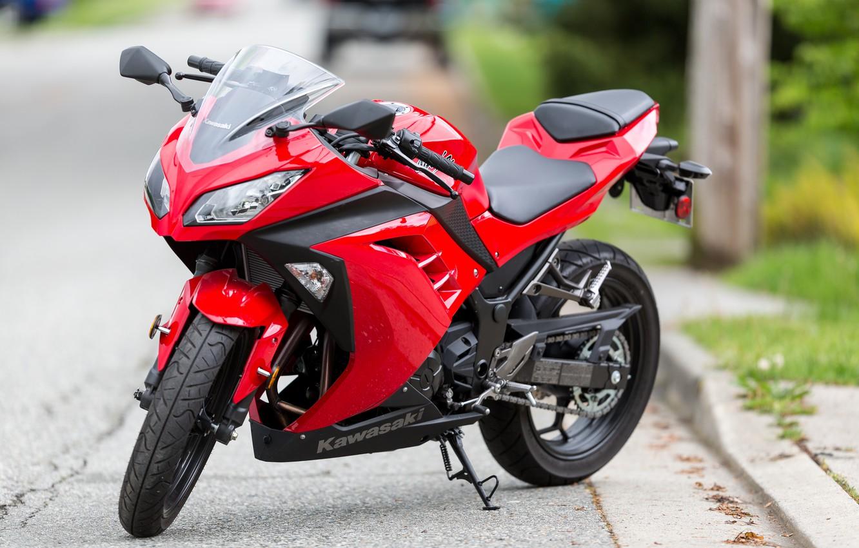 Фото обои мотоцикл, байк, Kawasaki