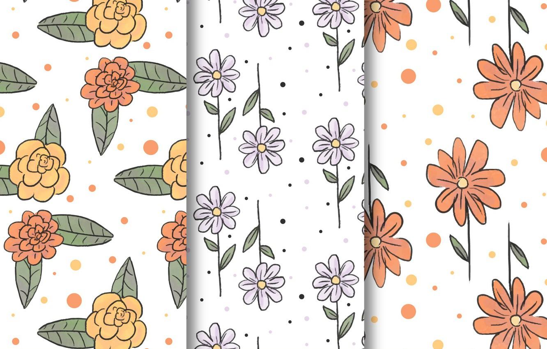 Фото обои style, Flowers, patterns, ТЕКСТУРА, ЦВЕТЫ, drawn, hand, collection