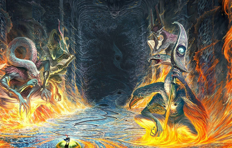 Фото обои Warhammer, хаос, демоны, chaos, Вархаммер, demons, Tzeentch, Тзинч