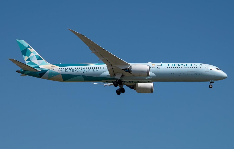 Фото обои Boeing, Dreamliner, Etihad Airways, 787-10