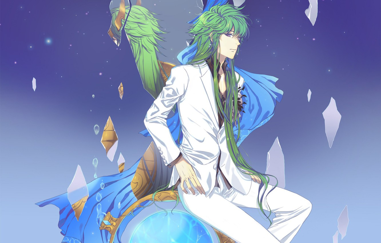 Фото обои аниме, арт, парень, saint seiya