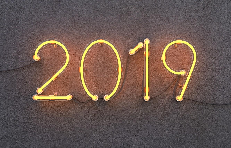 Фото обои lights, часы, новый год, new year, time, watch, 2019, отсчет