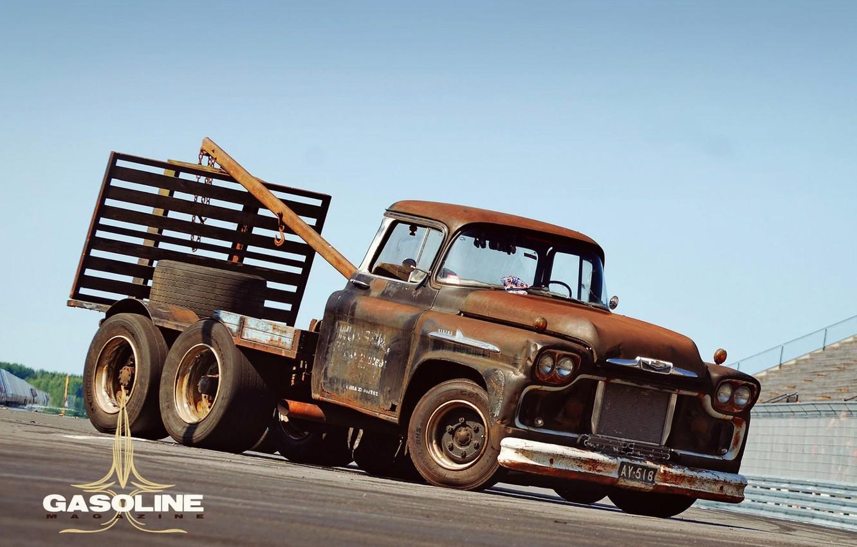 Фото обои Chevrolet, Truck, Rat Rod, Tow Truck