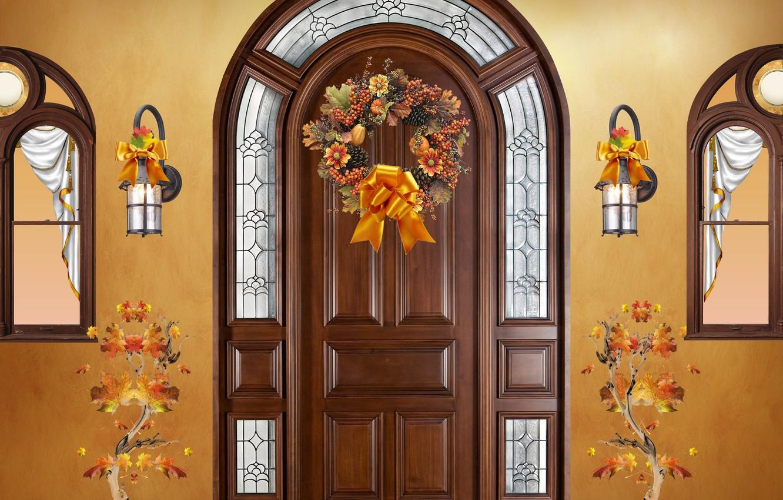 Фото обои autumn, decoration, Seasson, autumn ornaments