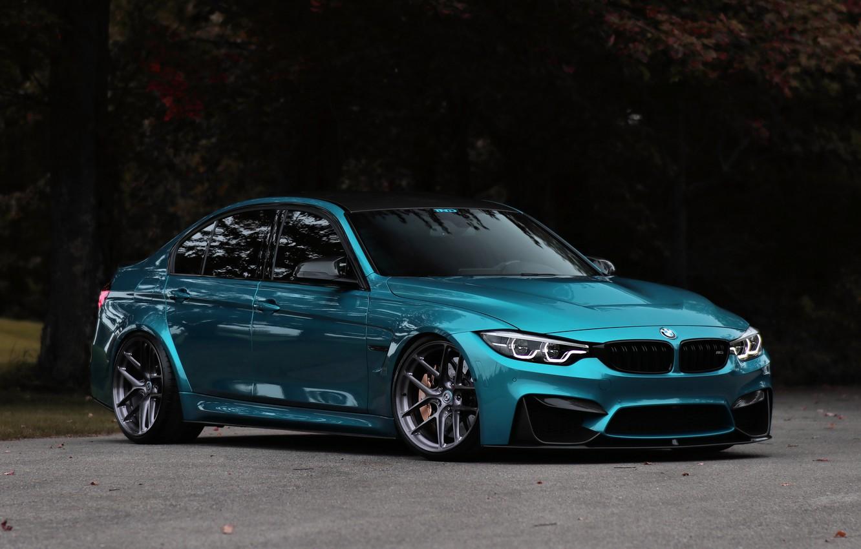 Фото обои BMW, Blue, Predator, F80, Sight, 3/4