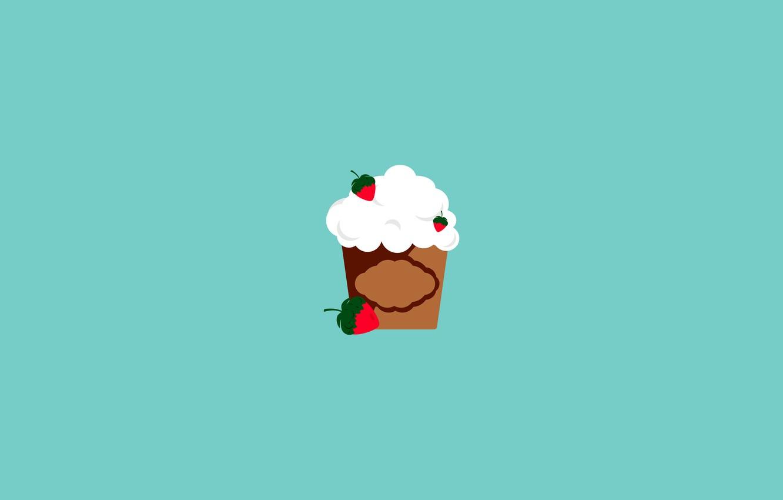 Фото обои ягоды, еда, минимализм, мастер, клубника, фрукты, стаканчик, крем, food, вкусняшка, анимация, аппетитно, широкоформатные HD wallpapers, …