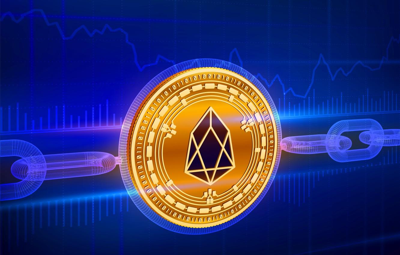 Фото обои фон, цепь, fon, eos, chain, blockchain, еос