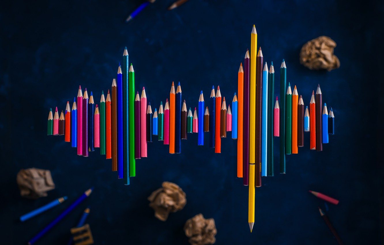 Фото обои спектр, карандаши, spectrum, pencils, Dina Belenko