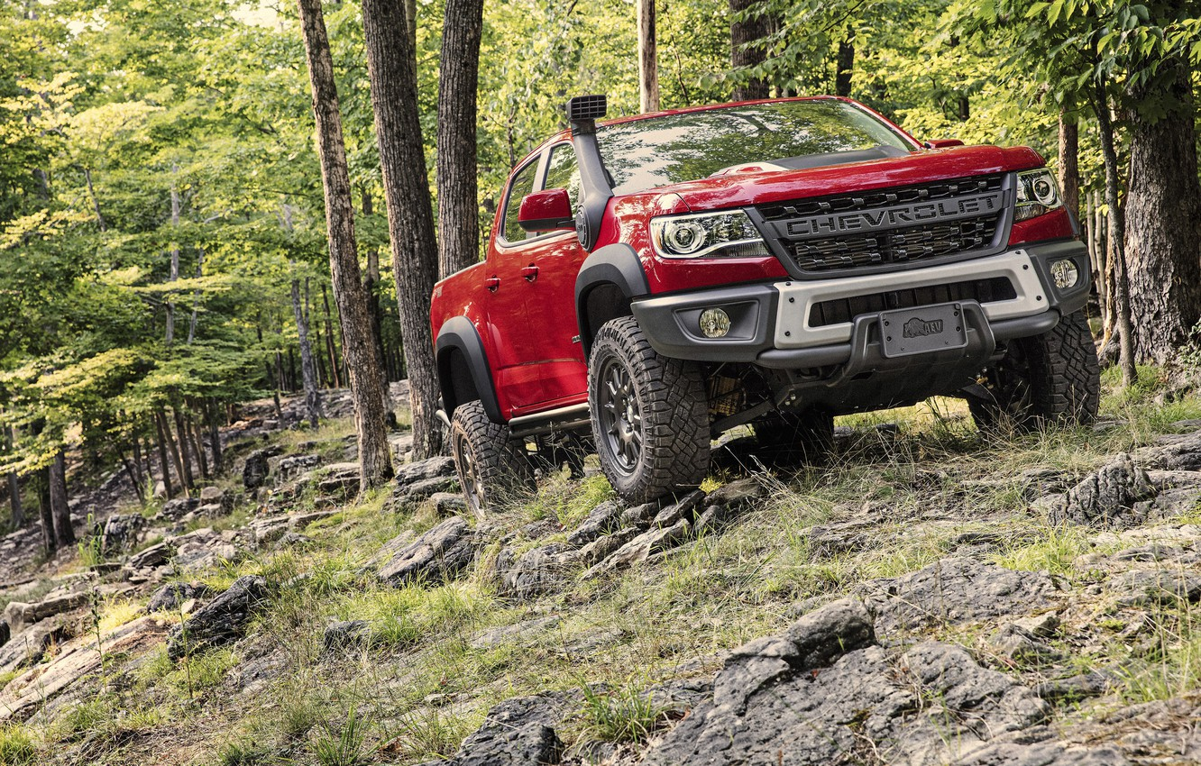 Фото обои Colorado, Crew Cab, Bison, ZR2, 2019 Chevrolet, 2019 Chevrolet Colorado ZR2 Bison Crew Cab
